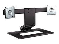 HP Adjustable Dual Display Stand - Pied (support) pour 2 écrans LCD