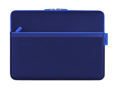 Belkin Pocket - Protective sleeve for tablet - durable neoprene - blue print - for Microsoft Surface Pro (12 in)