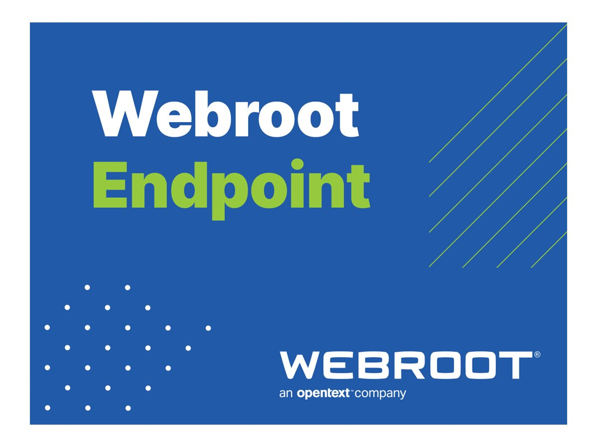 Webroot SecureAnywhere Business - Endpoint Protection - upsell / add-on license (2 years) - 1 seat - with Global Site M…