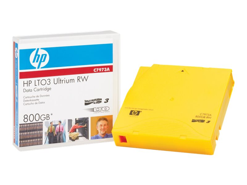 HPE Ultrium RFID RW Custom Labeled Data Cartridge - LTO Ultrium 3 x 20 - 400 GB - storage media