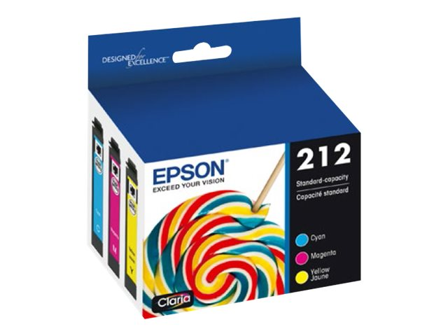 Epson 212 Multi-pack - 3-pack - yellow, cyan, magenta - original - ink cartridge