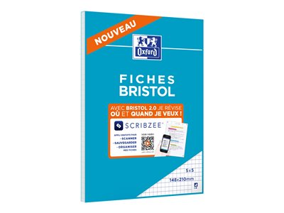 Fiches bristol Oxford Bristol - cahier de notes