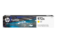 HP 972A - 37.5 ml - yellow - original - PageWide - ink cartridge - for PageWide MFP 377; PageWide Pro 452, 477, 552, 577, MFP 477