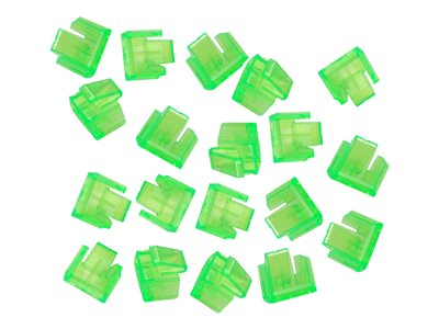 LINDY - LAN port blocker - green (pack of 20)