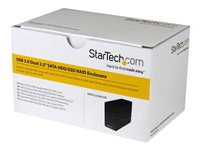 StarTech.com Dual Bay 2.5in Hard Drive Enclosure - USB 3.0 to SATA III 6Gbps with RAID - Hard drive array - 2 bays (SATA-600) - USB 3.0 (external)