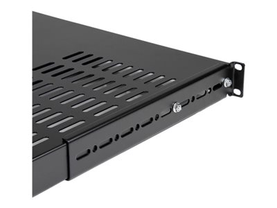StarTech.com Server Rack Shelf - 1U - Adjustable Mount Depth - Heavy Duty