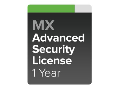 Cisco Meraki Advanced Security - subscription license (1 year) + 1 Year Support - 1 appliance