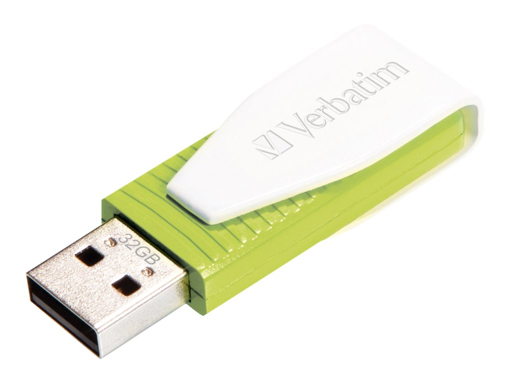 Verbatim Store n Go Swivel - USB-Flash-Laufwerk - 32 GB - USB 2.0 - Eucalyptus Green
