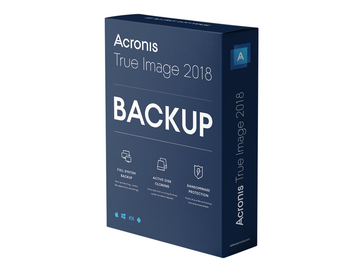 Acronis True Image Advanced - subscription license (1 year) - 5 computers, 250 GB cloud storage space