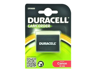 Duracell DR9689 - Camcorder battery Li-Ion 900 mAh - for Canon FS40; iVIS HF G10, HF S10, HF11; LEGRIA HF M307, HF S30; VIXIA HF G20, HF M301