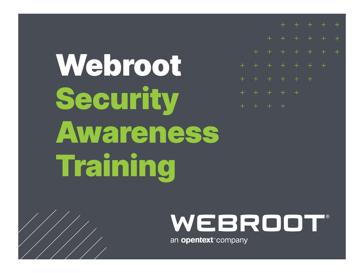 Webroot Security Awareness Training Business - subscription license (1 year) - 1 seat