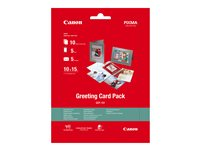 Canon Greeting Card Pack GCP-101 - 100 x 150 mm - 170 g/m² - 10 feuille(s) kit papier photo