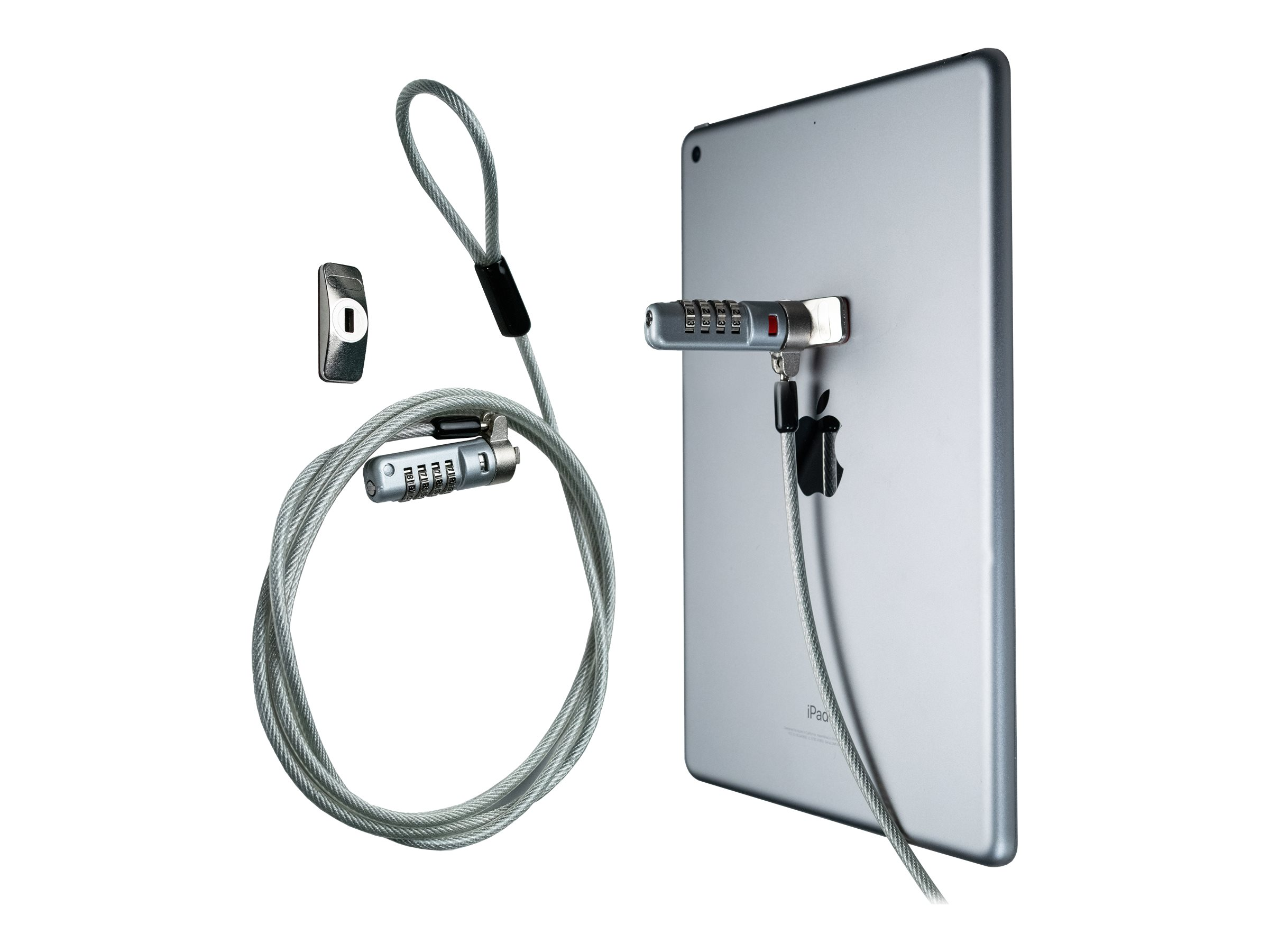 CTA Digital Kensington Combination Lock Security Cable and Adhesive Plate security cable lock
