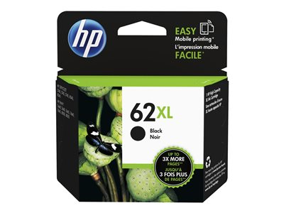 HP 62XL 12 ml High Yield black original blister ink cartridge