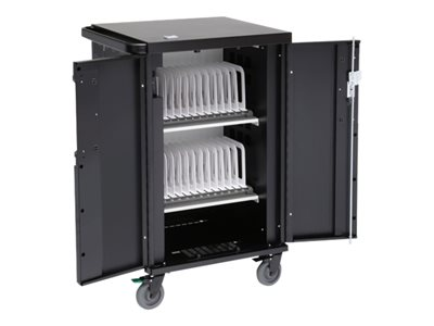 Bretford CoreX TCOREX24B w/Rear Door Cart (charge only) for 24 tablets / notebooks lockable