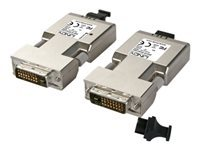 LINDY Fibre Optic DVI-D Dual Link Extender (Transmitter and Receiver units) - Video extender - up to 500 m