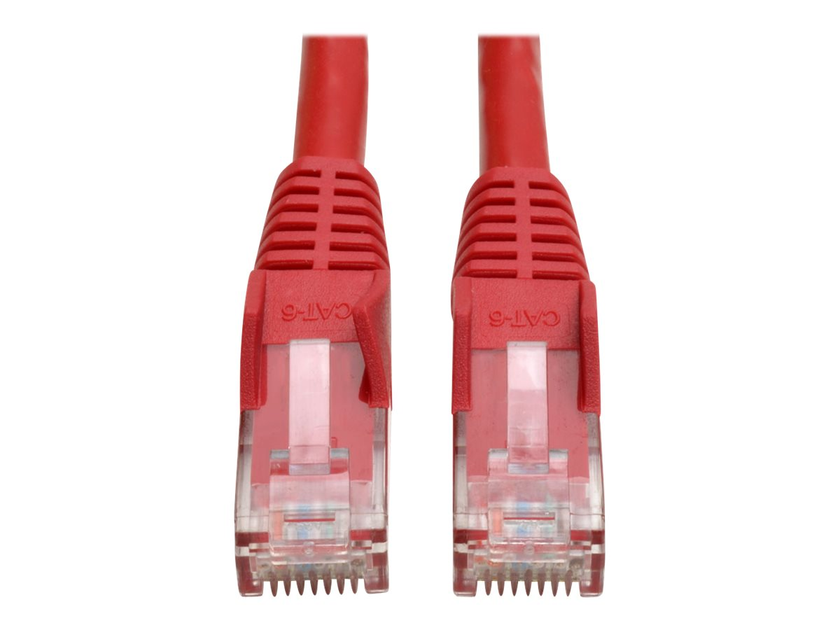 Tripp Lite 2ft Cat6 Gigabit Snagless Molded Patch Cable RJ45 M/M Red 2' - patch cable - 61 cm - red