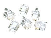 C2G Phone connector RJ-11 (M) clear (pack of 25)