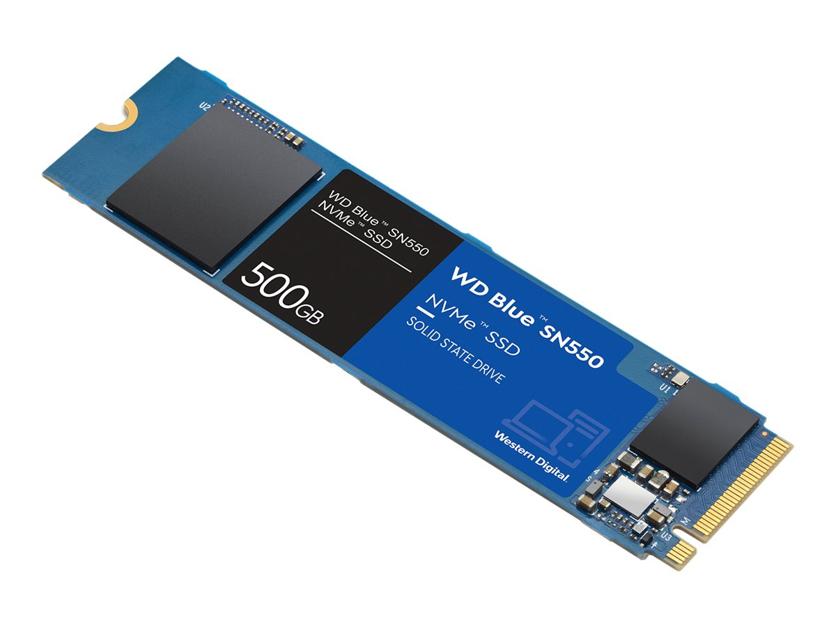WD Blue SN550 NVMe SSD WDS500G2B0C - solid state drive - 500 GB - PCI Express 3.0 x4 (NVMe)
