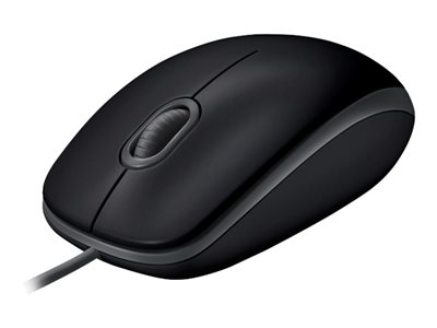 Logitech B110 Silent - Mouse - right and left-handed - optical - 3 buttons - wired - USB