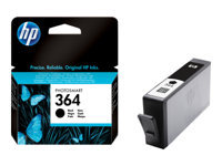 HP 364 - Black - original - ink cartridge - for Deskjet 35XX; Photosmart 55XX, 55XX B111, 65XX, 65XX B211, 7510 C311, 7520, eStation C510
