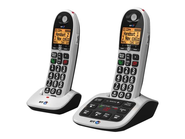 BT 4600 Advanced Nuisance Call Blocker - cordless phone - answering system with caller ID + additional handset - 3-way call capability