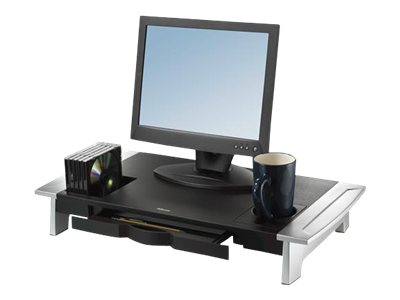 Fellowes Office Suites Premium Monitor Riser - Stand for Monitor - black, silver