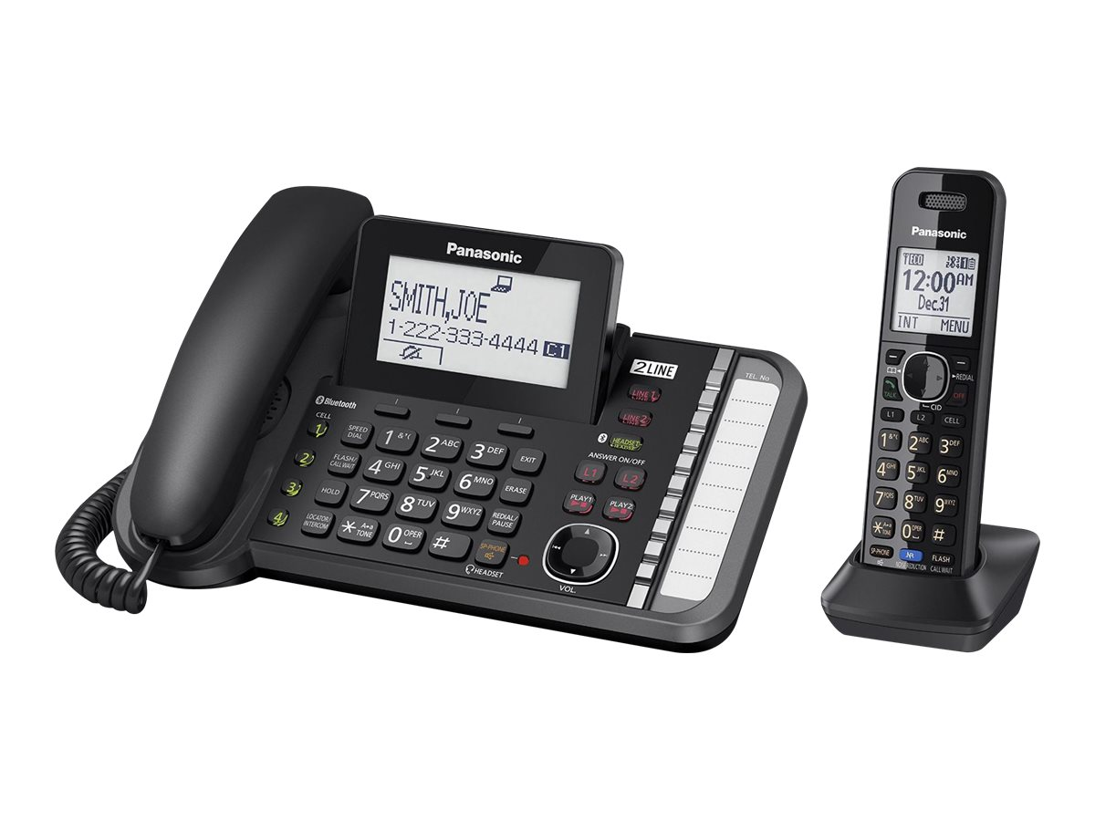 Panasonic KX-TG9581 - corded/cordless - answering system - with Bluetooth interface with caller ID/call waiting + addit…