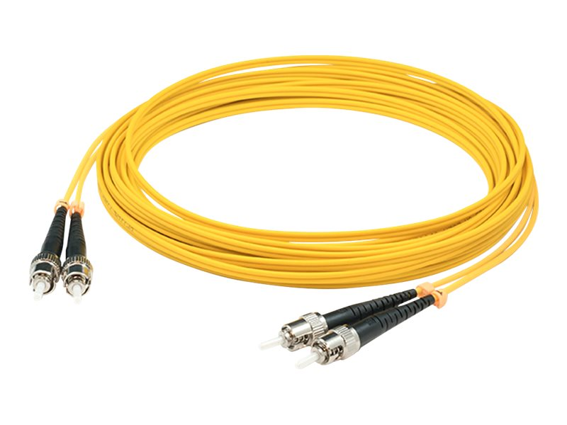 AddOn 10m ST OS1 Yellow Patch Cable - patch cable - TAA Compliant - 10 m