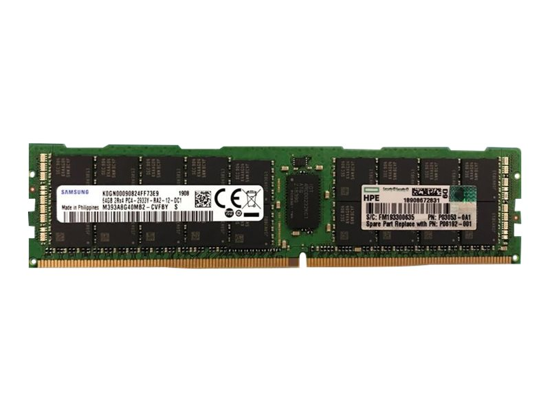 HPE SmartMemory - DDR4 - module - 64 GB - DIMM 288-pin - 2933 MHz / PC4-23400 - registered
