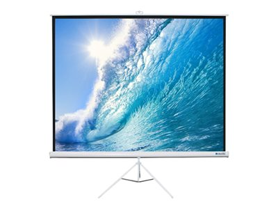 Alltec Screens Projection screen with tripod 99INCH (98.8 in) 1:1 Matte White white
