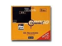 Intenso - 10 x CD-R - 700 MB (80 Min) 40x - Slim Jewel Case