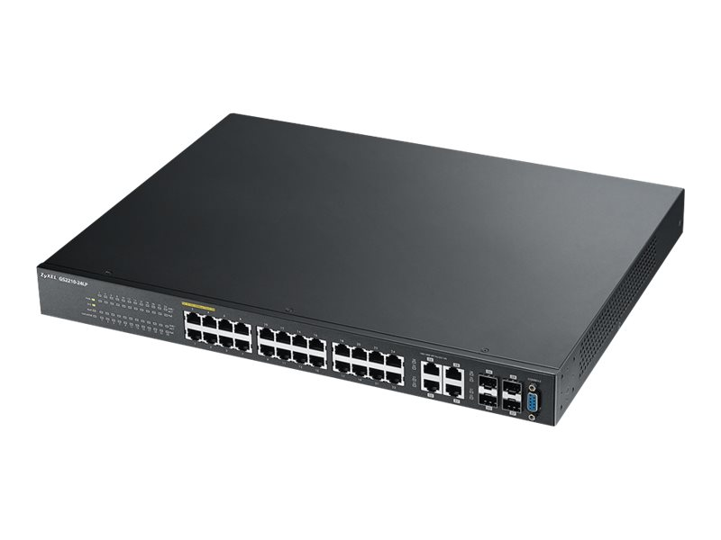 Zyxel GS2210-24LP - switch - 24 ports - managed - rack-mountable