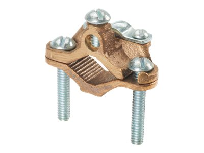 Panduit Structured Ground Mechanical Connectors Bronze Ground Clamp, Armored Cable - grounding clamp kit