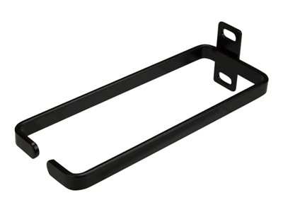 StarTech.com 1U Vertical 2.2 x 5.9in Server Rack Cable Management D-Ring Hook w/ Flexible Opening - Network Rack-Mount Cord Organizer Ring (CMHOOK1UL) - Cable management ring - black - 1U - for P/N: RK12WALLO, RK12WALLOA, RK15WALLO, RK15WALLOA, RK4236BKB, RK4242BK30, RKQMCAB12V2