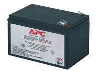APC Replacement Battery Cartridge #4 - UPS battery Lead Acid - black - for Back-UPS 650VA; Back-UPS Pro 650, 650VA; Smart-UPS 620, 620VA; Smart-UPS v/s 650VA