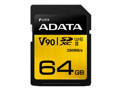 ADATA Premier ONE - flash memory card - 64 GB - SDXC UHS-II