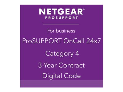 NETGEAR ProSupport OnCall 24x7 Category 4 Technical support phone consulting 24x7