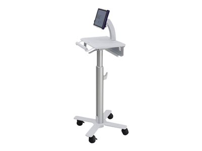 Ergotron StyleView Tablet Cart, SV10 - Cart for tablet / keyboard - medical - metal - white, aluminum - screen size: up to 12