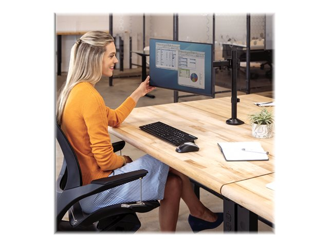 Fellowes Reflex Single Monitor Arm - Mounting kit - for monitor (adjustable arm) - metal - black, RAL 9017 - screen size: up to 32