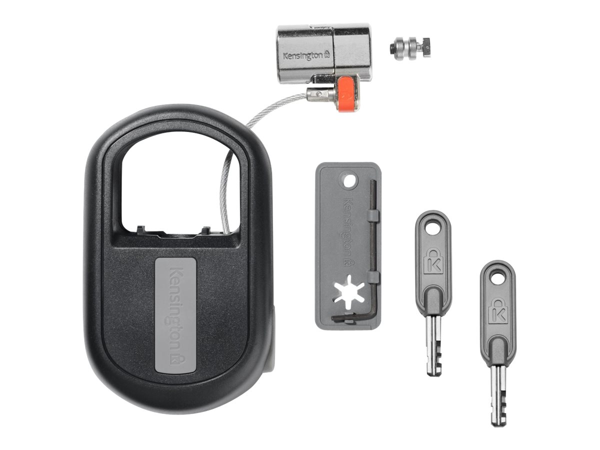 Kensington ClickSafe Keyed Retractable Laptop Lock - Sicherheitskabelschloss - Schwarz - 1.21 m