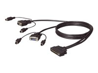Belkin OmniView Dual Port Cable, PS/2 - Tastatur- / Video- / Maus- (KVM-) Kabel