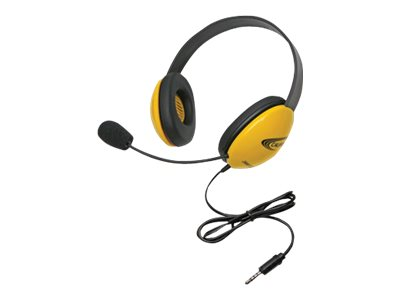 Califone Listening First Stereo Headset 2800-YLT Headset full size wired yellow