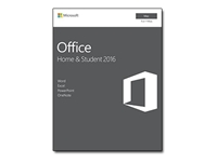 Microsoft Office for Mac Home and Student 2016 - Box pack - non-commercial - medialess, P2 - Mac - English - Eurozone