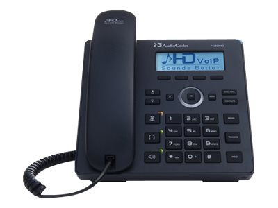 AudioCodes 420HD IP Phone VoIP phone SIP, SDP 2 lines black