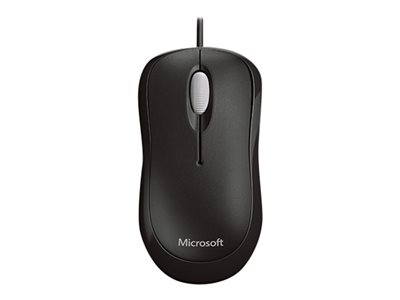 Microsoft Basic Optical Mouse for Business - Mouse - right and left-handed - optical - 3 buttons - wired - PS/2, USB - black