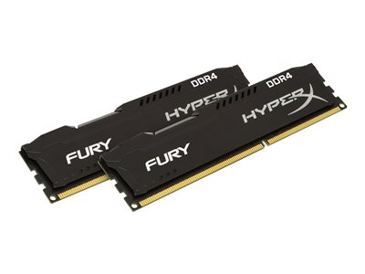HyperX FURY - DDR4 - 8 GB: 2 x 4 GB - DIMM 288-PIN - ungepuffert