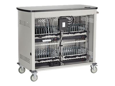 Black Box Double Frame with Large Slots and Hinged Door Cart for 27 tablets