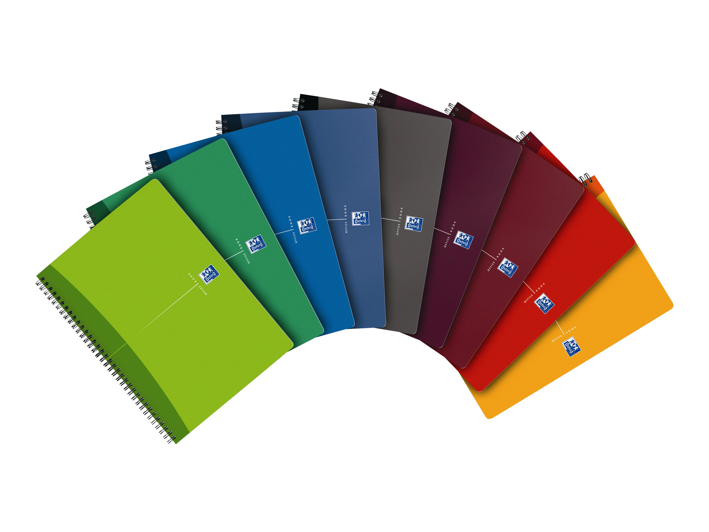 Cahiers professionnels Oxford Office Essentials - Cahier - A4 - 180 pages - quadrillé - 5x5 - couvertures aux couleurs assorties - carton