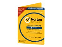 Norton Security Deluxe - ( v. 3.0 ) - bokspakke ( 1 år ) - op til 5 enheder - Attach - DVD - Win, Mac, Android, iOS - Nordisk